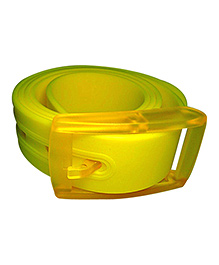 NeedyBee Resizable And Scented Unisex Silicone Belt - Yellow