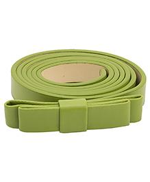 NeedyBee Girls Designer Buckle Bow Belt - Light Green