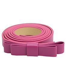 NeedyBee Girls Designer Buckle Bow Belt - Pink