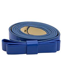 NeedyBee Girls Designer Buckle Bow Belt - Dark Blue