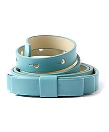 NeedyBee Girls Designer Buckle Bow Belt - Blue