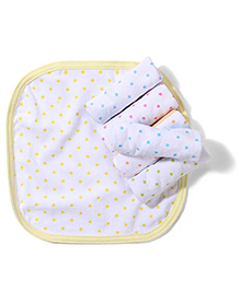 Babyhug Dotted Terry Hand Towel Set Of 6 Pieces - Multi Color