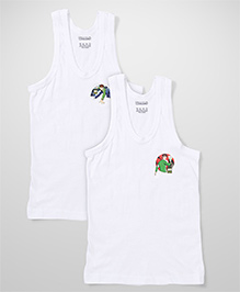 Ben 10 Sleeveless Printed Vest Pack Of 2 - White