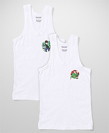 Ben 10 Printed Vest Pack of 2 - White