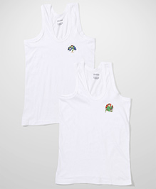 Ben 10 Sleeveless Printed Vests Pack of 2 - White