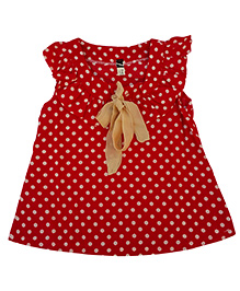 Kuddle Kids Polka Dots Top - Red