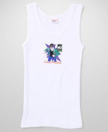 Ben 10 Sleeveless Vest Alien Force Print - White