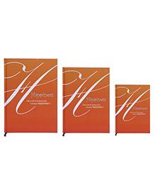 Tiara Diaries Happiness New Designer Lakarta Notebook Orange - Set Of 3