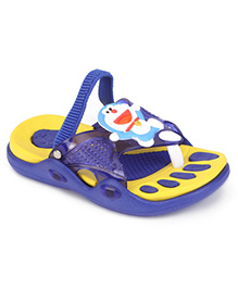 Doraemon Flip Flops With Back Strap - Yellow Blue