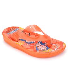 Doraemon Printed Flip Flops - Orange