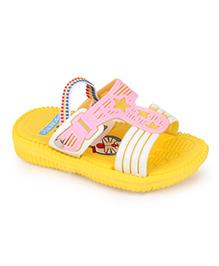 Doraemon Printed Sandals - Yellow Pink