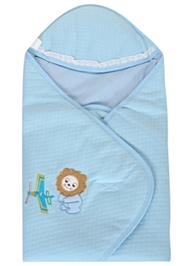 Fab N Funky - Sleeping Bag Lion Print Soft Sky Blue