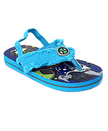 Ben 10 Flip Flops With Back Strap - Sky And Royal Blue