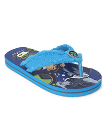 Ben 10 Printed Flip Flops - Sky And Royal Blue