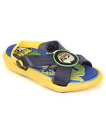 Ben 10 Sandals With Back Strap - Yellow Blue