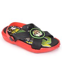 Ben 10 Sandals With Back Strap - Red Black
