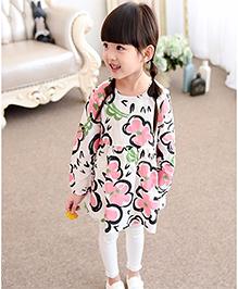 Lil Mantra Floral Print Dress - Beige & Multicolour