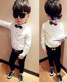 Lil Mantra Smart & Stylish Shirt - Black & White