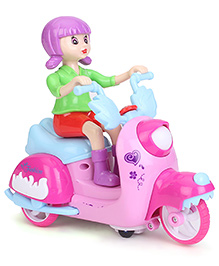 Smiles Creation Musical Bump And Go Scooter Toy - Pink