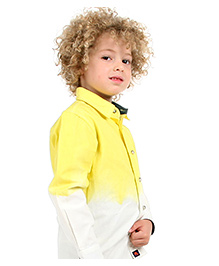 Cherry Crumble California Trendy Shirt For Boys - Yellow And White