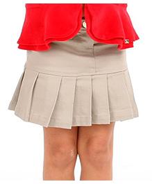 Cherry Crumble California Pleated Skirt - Beige