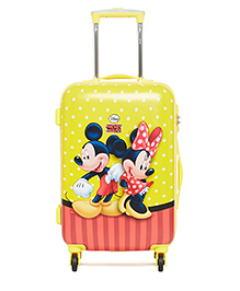 DISNEY Mickey Mouse Trolley Bag Mickey Minnie Print Yellow - 20 Inches