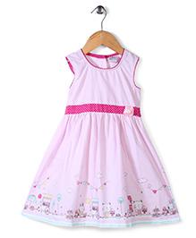 Babyhug Sleeveless Frock Printed - Pink