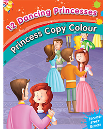 12 Dancing Princesses Copy Color Book - English
