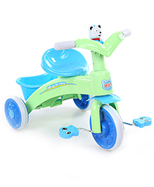 Baby Tricycle With Rear Basket Green & Blue - 686A