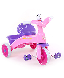 Baby Tricycle With Rear Basket Pink & Purple - 686A