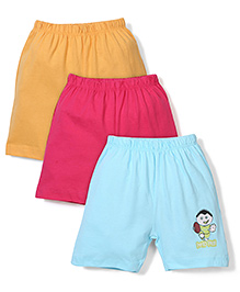Ohms Shorts Pack of 3 Multi Print - Yellow Green Pink
