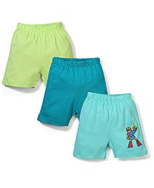 Ohms Shorts Pack of 3 Multi Print - Green