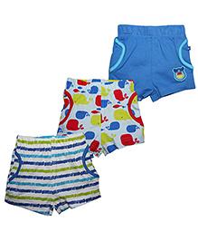 FS Mini Klub Shorts Pack of 3 Multi Print - Multicolor