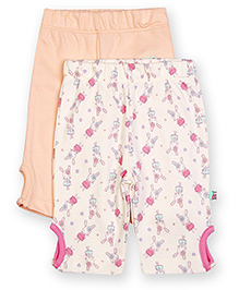FS Mini Klub Leggings Pack of 2 - White Peach