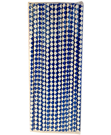 Funcart Paper Straws Diamond Print Blue - 25 Pieces