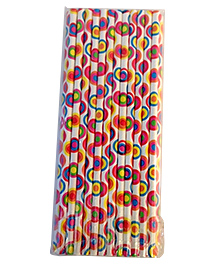 Funcart Paper Straws Multicolor - 25 Pieces