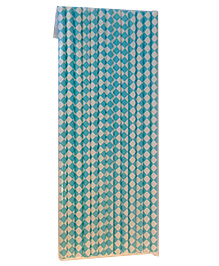 Funcart Paper Straws Diamond Print Blue - 25 Pieces - 923710