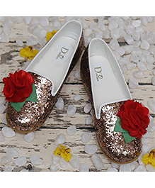 D'chica Ultra Glam Shoes - Brown & Red