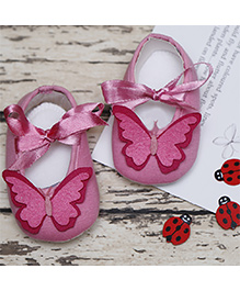 D'chica Pretty Butterfly Shoes - Pink