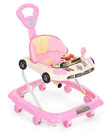 Musical Baby Walker Vehicle Design - Pink & Cream