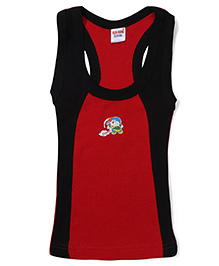 Doraemon Printed Vest - Red and Black