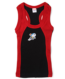 Doraemon Printed Vest - Red and Black