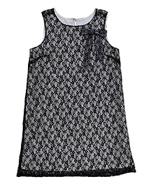 Teeny Tantrums Sleeveless Lace Dress - Black