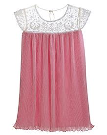 Teeny Tantrums Elegant Hand Beaded Dress - Pink