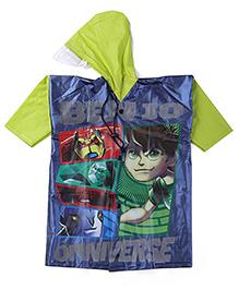 Ben 10 Printed Raincoat - Green And Multi Color