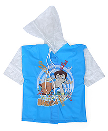 Chhota Bheem Printed Hooded Raincoat - Blue