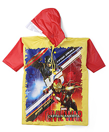 Avengers Hooded Raincoat - Red And Yellow