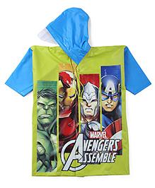 Avengers Hooded Raincoat - Blue And Green