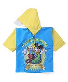Mickey Hooded Raincoat - Blue