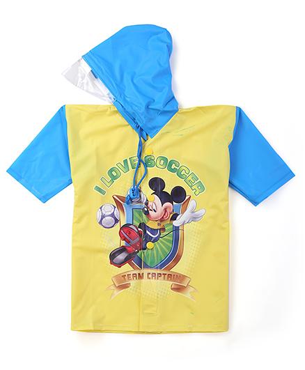 Mickey Hooded Raincoat - Yellow